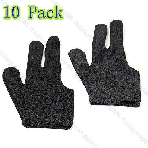 1 шт. черный Cue Бильярд 3 пальцы перчатки