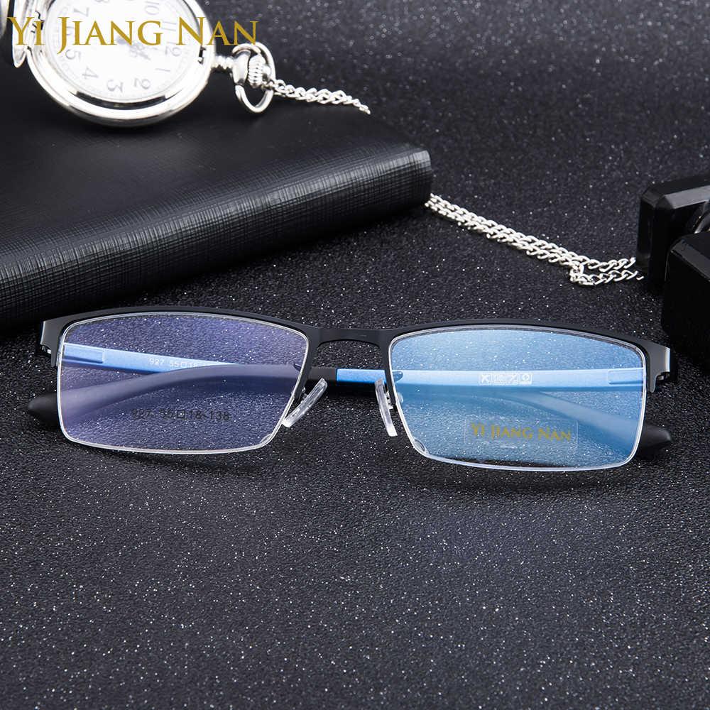 Modetrend Half Omrande Big Size Kwaliteit Glazen Mannelijke Recept Brillen Frame