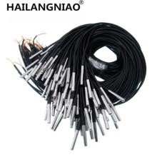 10PCS Waterproof 18B20 temperature probe temperature sensor Stainless steel package  100cm wire (DS18B20)