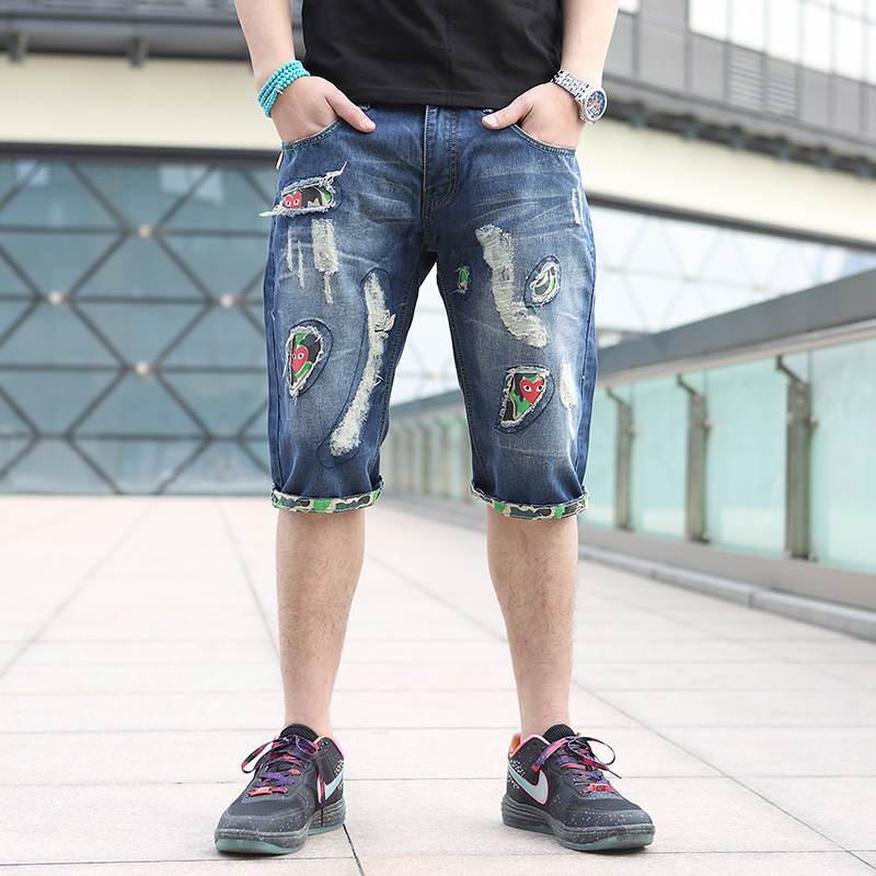 Wholesale!premium quality!best price!2014 famous brand shorts torn short jeans mens ripped ...