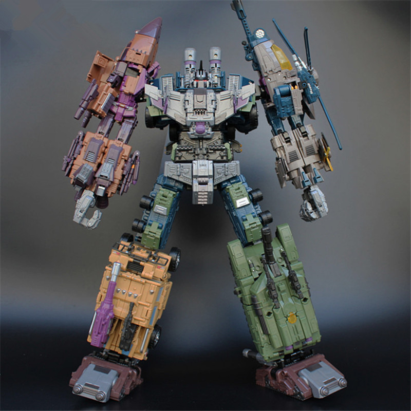 JinBao 5 IN 1 Cool Devastator Anime Transformation Toy boy Oversize 43CM Robot Car Action Figures