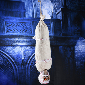 Image 3 - Horror Hanging Ghost Halloween Decoration Props Scary Haunted House Zombie Bat Decorations Prop Bar Party Luminous Tricky Toy