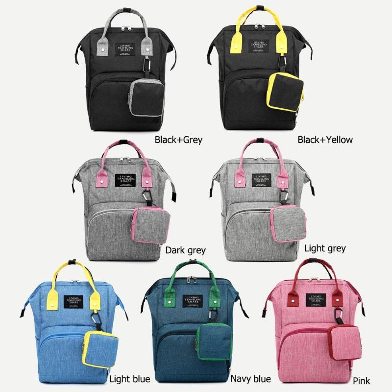 2pcs/set Fashion Mummy Maternity Nappy Bag Large Capacity Nappy Bag Travel Backpack Nursing Bag For Baby Care Women Fashion Bag