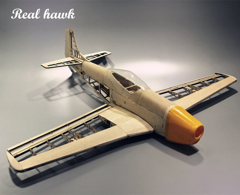 RC Plane Laser Cut Balsa Træ Airplane Kit Ny P51 Ramme uden Cover Wingspan 1000mm Gratis forsendelse Model Building Kit
