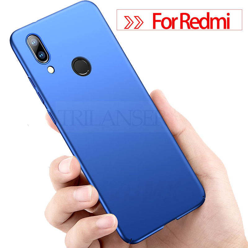 TRILANSER slim PC Phone Case For Redmi 7A note 7 pro frosted matte Xiaomi A case hard Back Cover plastic gift