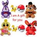 Pokeball Пять Ночей в Фредди 25 см Размер Медведь & Fox & утка & Кролик и Клоун Дети juguetes Плюшевые Игрушки Рождественские Подарки