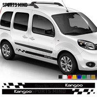 1 Pair Sports Mind Door Car Sticker Decal Automobiles Car Styling For Renault Kangoo 4X4 Sport Car Stickers Exterior Accessories