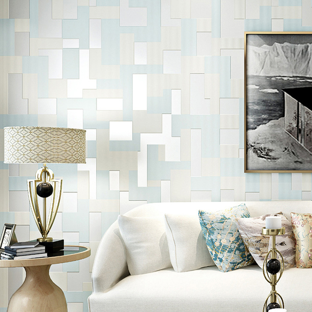 2017 Nieuwe stijl Mozaïek 3d behang non woven papier peint roll ...