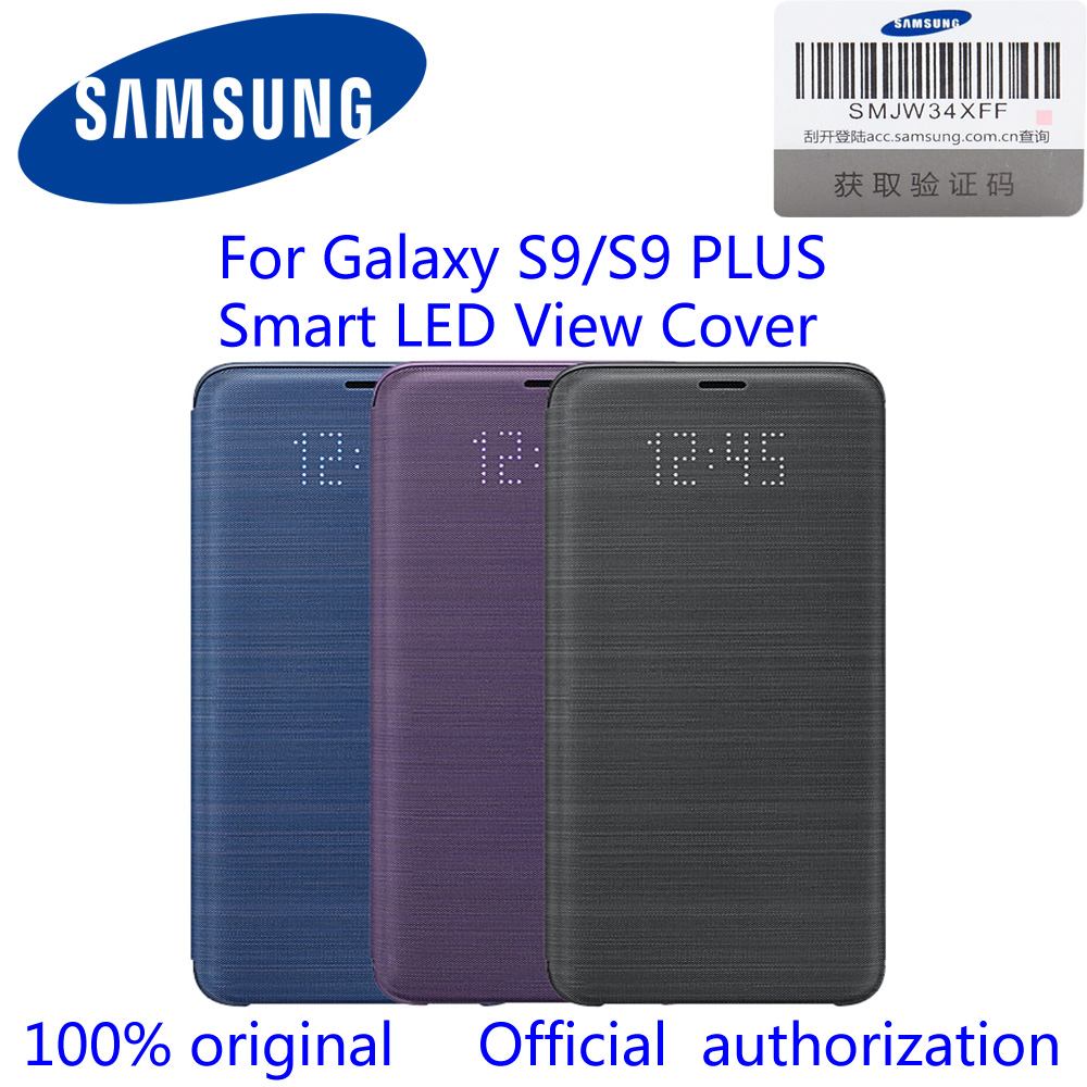 Original Samsung S9 LED Smart Leather Case For Samsung Galaxy S9 S9 + S9 Plus G960 G965 LED Smart VIEW Cover Wallet Flip Case