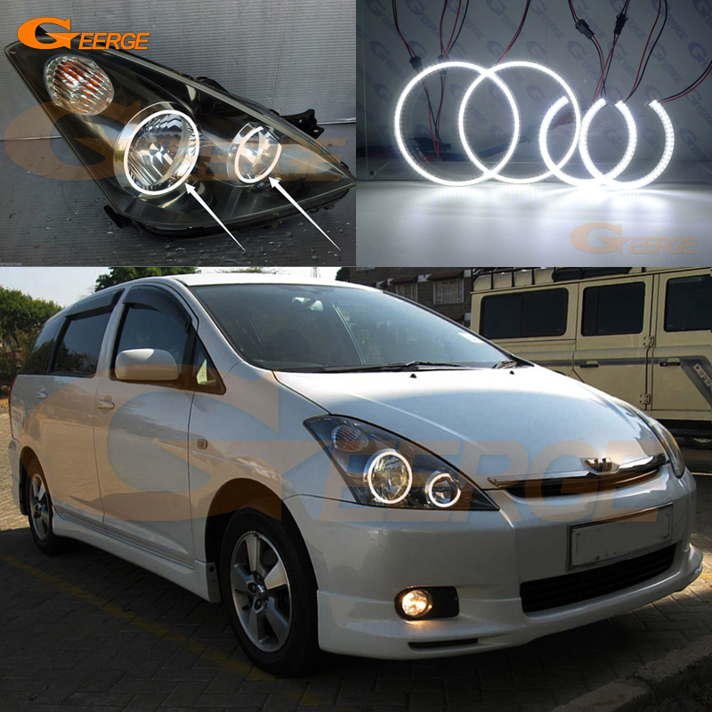 For TOYOTA WISH 2003 2004 2005 Excellent angel eyes Ultra bright illumination smd led Angel Eyes Halo Ring kit авита ру продать камаз зерновоз 2003 2005 года