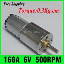 NEW  6V 500RPM DC motor Gearmotors Powerful High Torque Gear Box Motor mini cnc motor Free Shipping