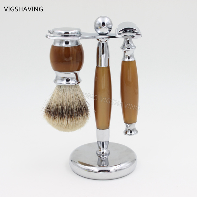 Silvertip Badger Hair and Safety razor Luxury Shaving  kit