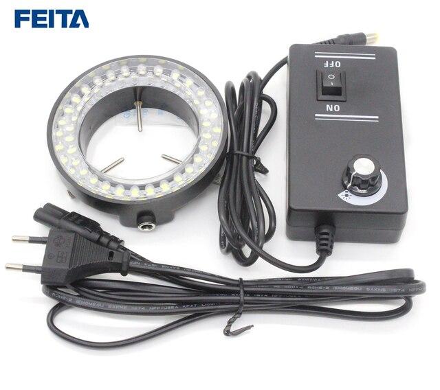 FEITA 56 Pcs LED Ring Lamp with Adjustable Illuminator AC100-240V Eu Plug LED Round Light for Stereo Zoom Microscopes
