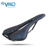 VELO Bicycle Saddle Silica Gel Comfortable MTB Mountain Road Bike Hollow Breathable Saddle Seat Pad Unisex Bicycle Seat Cushion