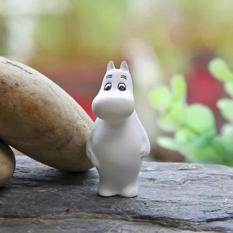 DIY Beberapa Hadiah Mainan Anime Action Figure Model Kartun Boneka Hippo Bentuk Angka Mainan Koleksi Dekorasi Taman Rumah Ornamen