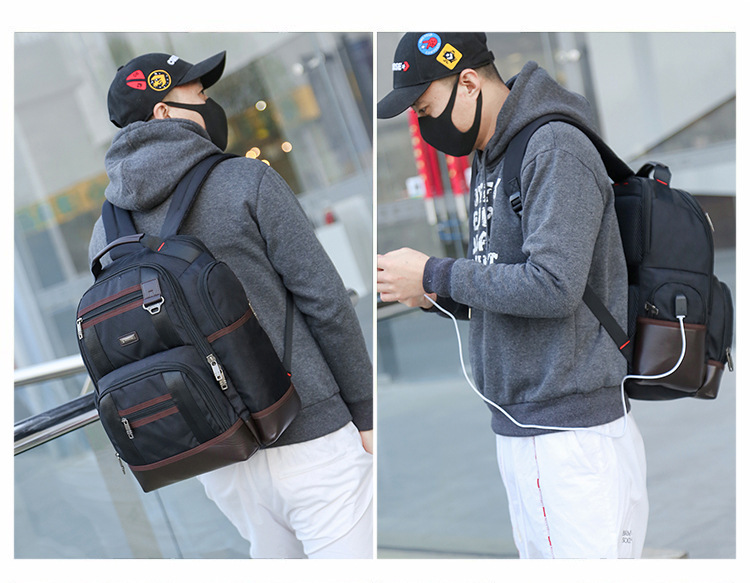 OE Premium Commuter Laptop Travel Business Backpack with USB Charging Port Waterproof Large Capacity for Men 2019 Mochila in Backpacks from Luggage Bags