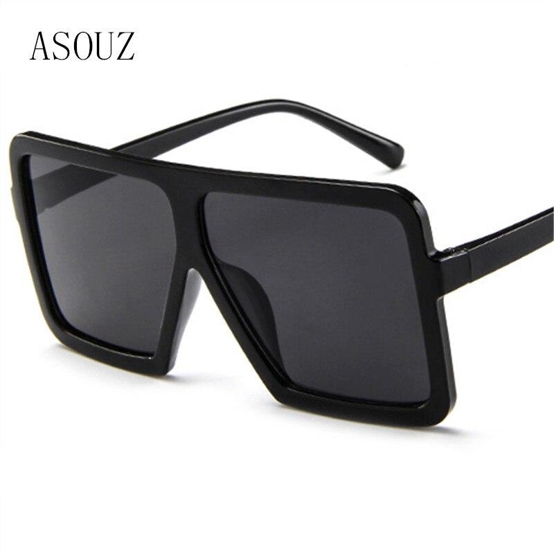 3c4e12c210 ASOUZ 2018 new fashion square ladies sunglasses retro cat eyes mens glasses  UV400 brand large frame sun protection goggles