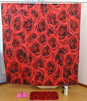 Printing Shower Curtain Custom Foreign Trade Toilet Hanging Curtain Bathroom Curtain Waterproof Mildew Can Be Customized