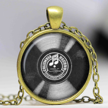 Vinyl record pendant necklace, keychain, cufflinks & pin buttons