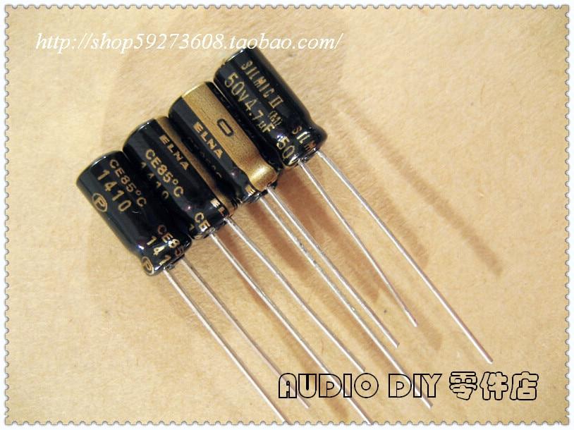 30PCS/50PCS ELNA SILMIC II On Behalf Of 4.7uF/50V Audio Electrolytic Capacitor (origl Box In 2014 Origl Box) Free Shipping