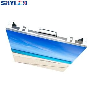 Image 3 - 500x500mm p3.91 indoor led tela de aluguel led tela de exibição de alumínio fundido gabinete publicidade parede vídeo