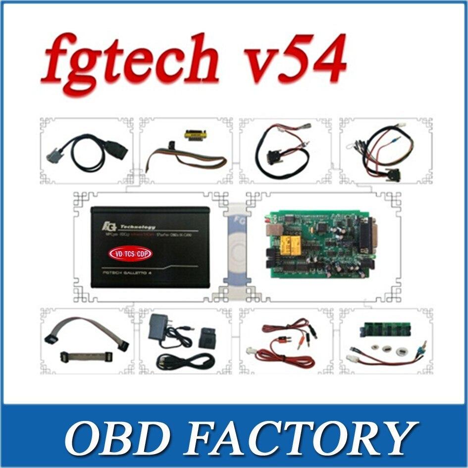 Цена за Доставка DHL 2017 FG V54 FGTech Galletto 4 Мастер BDM-OBD функция FG Tech V54 с несколькими языками ЭБУ чип Тюнинг инструмент