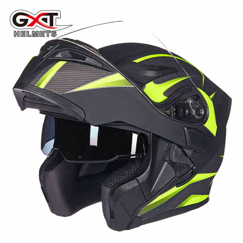 GXT Motorcycle Helmet Dual Visor Flip UP Helmets Motorbike Riding Racing helmet 4 seasons casque casco capacete Moto 2017 new knight protection gxt flip up motorcycle helmet g902 undrape face motorbike helmets made of abs and anti fogging lens