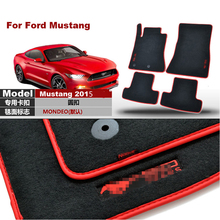 Brand New 4pcs Premium Solid Black Nylon Car Floor Mats Carpet Exactly Fit For Ford Mustang 2015-2017