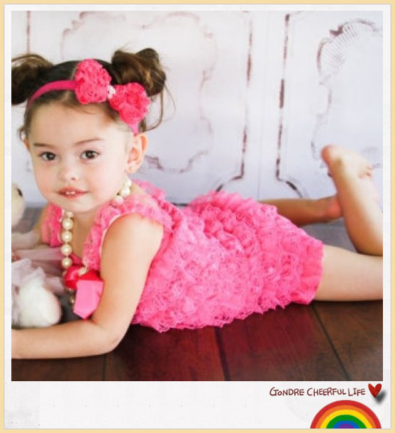 Cutie Baby Baby Girls Lace Ruffle Romper