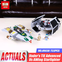 LEPIN 05030 722Pcs Star Wars Vader Tie Advanced VS A Wing Starfighter Building Blocks Gift Compatible