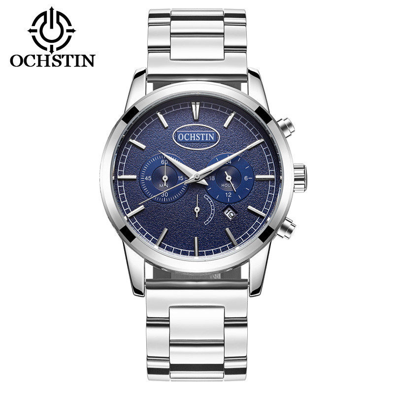 Top Luxury Brand OCHSTIN Men Full Stainless Steel Business Watches Men's Quartz Date Clock Men Wrist Watch relogio masculino
