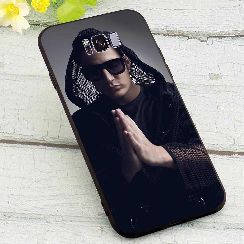 DJ Snake Lembut TPU Case untuk Samsung Galaxy Note 8 Cetak Ponsel Cover untuk 9 M10 M20 M30 S6 Edge s7 S8 Plus S9 S10 S10e Kulit