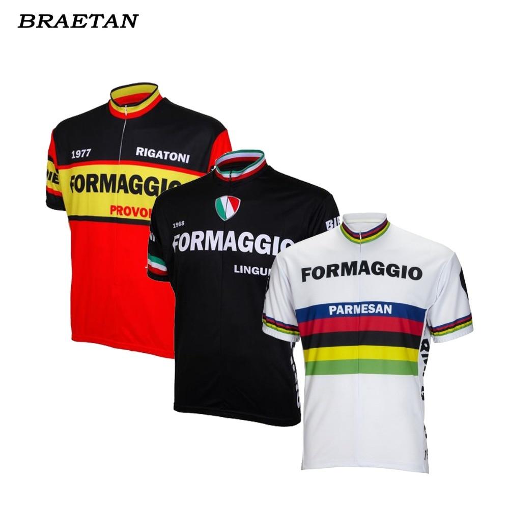 9acc696fd retro cycling jersey red black white summer short sleeve italy bike wear  black jersey road jersey