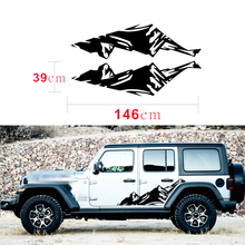 1 Pair Snow Mountain Car stickers Range Vinyl Decals Sticker For Jeep Wrangler