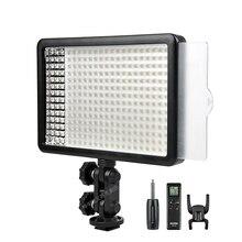 新godox 308C 2 色調光可能な 5500 18k/3300 5400k led ledビデオスタジオライトランププロビデオライトリモコン