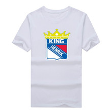 "2017 Henrik Lundqvist 30 New York Rangers ""King Henrik"" T-Shirt 100% cotton shirt 10152258"