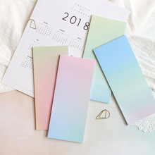 4 pcs Gradual change color sticky note Rainbow post memo pad Marker it planner stickers Stationery Office School supplies A6128 1 pcs 7 10 colors pet 20 sheets per color index tabs flags sticky note for page marker stickers office accessory stationery