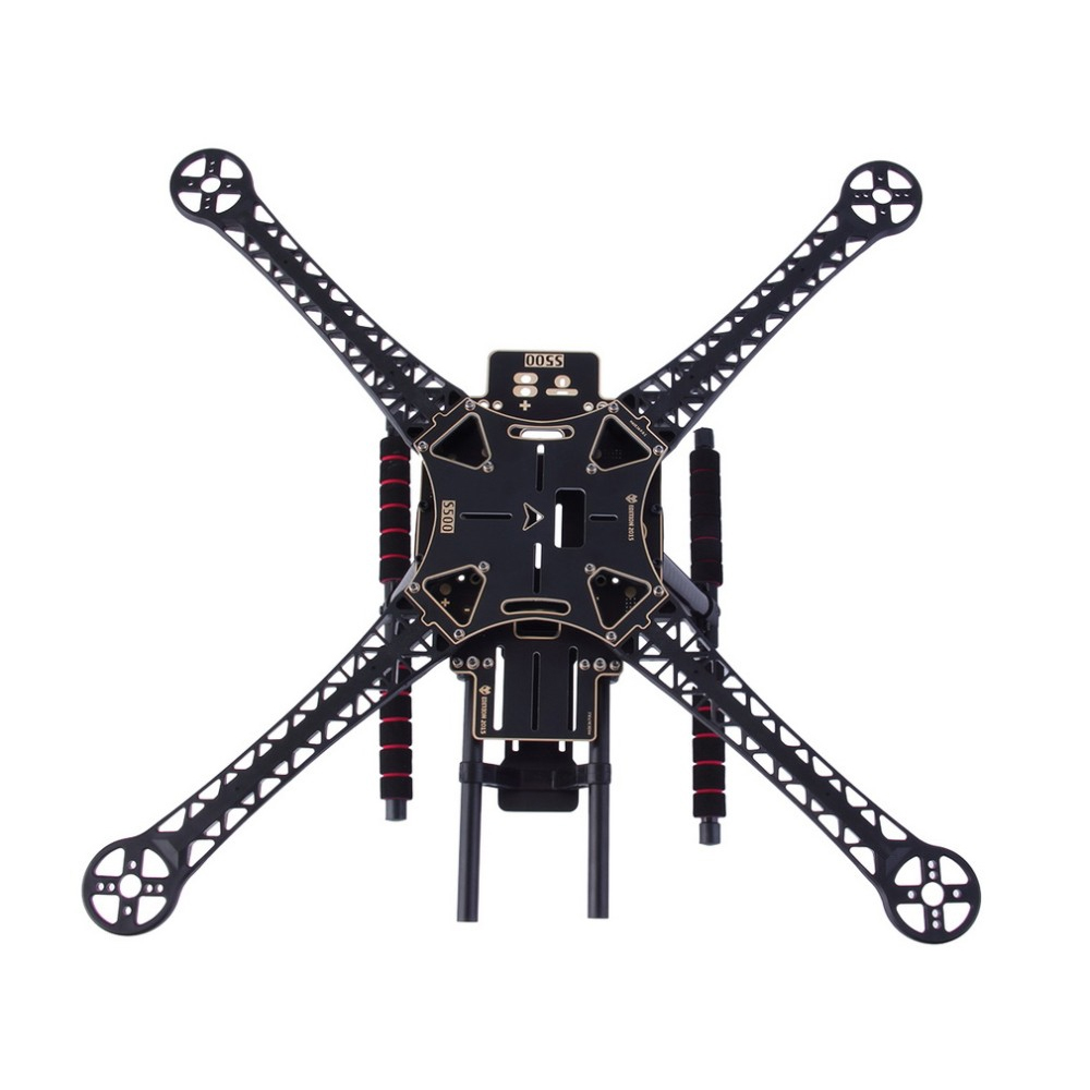 1set SK500 500mm Wheelbase 4-Axis Carbon Firbe Quadcopter Frame Kit With Landing Skid (PCB board) 500mm pcb board with landing gear for fpv quad s500 pcb quadcopter multicopter frame kit gopro gimbal f450 rc spare parts