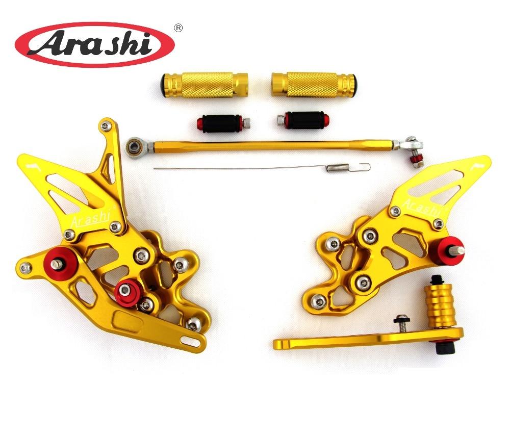 Arashi For SUZUKI GSXR600 GSXR750 2006-2010 Rearset Adjustable Footrests Foot Pegs GSX-R600 GSX-R750 2007 2008 2009