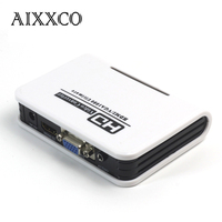 AIXXCO HDMI To VGA Converter BOX With 3 5mm Audio HDMI2VGA 1080P Adapter Connector For PC