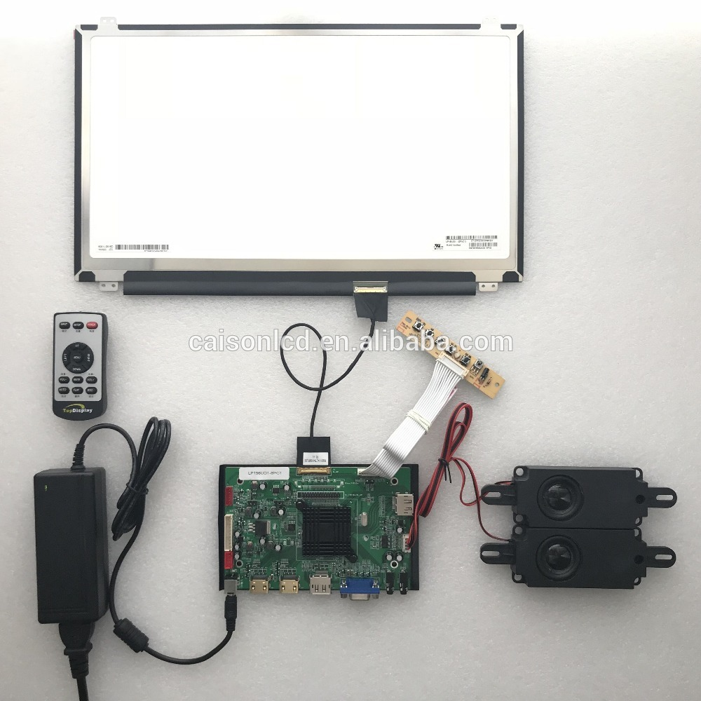 2HDMI+VGA+DP+Audio 4K LCD controller board support DIY 15.6 inch lcd modules with 3840*2160