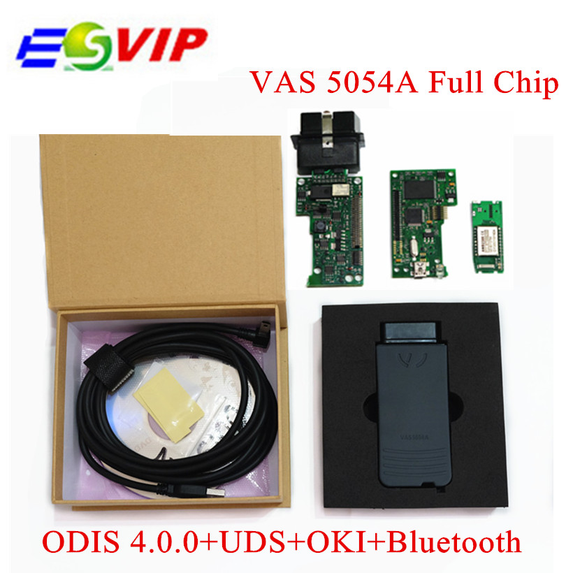 Best Quality Newest ODIS V4.13 VAS5054A OKI Full Chip VAS5054 VAS 5054A Bluetooth USB Support UDS/CAN/K-Line Free Ship high quality vas5054a with oki full chip car diagnostic tool support uds protocol vas 5054a odis v4 13 bluetooth for audi for vw