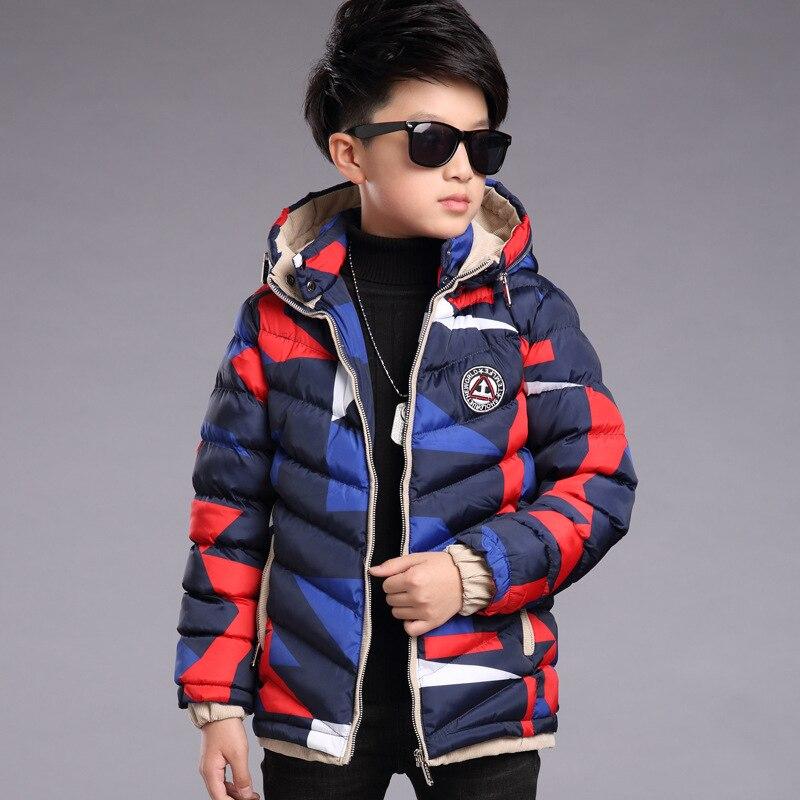 Kids boys winter padded jacket 2017 new baby boys fashion clothing big virgin warm camouflage jacket 6/7/8/9/10/11/12/13 years