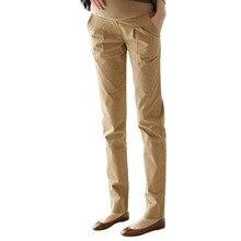 Embarazada gestante pantalones беременных хлопок брюки одежда для