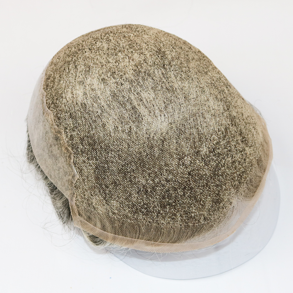 lace toupee with grey hair