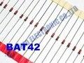 Frete Grátis Um Lote 50 pcs Diodo Retificador Schottky BAT42 NOVO