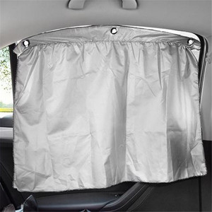 2pcs UV Protection Shield Sun Shade Car Window Cover Sunshade Curtain Double Silver Cloth Thermal Insulation Anti-mosquito