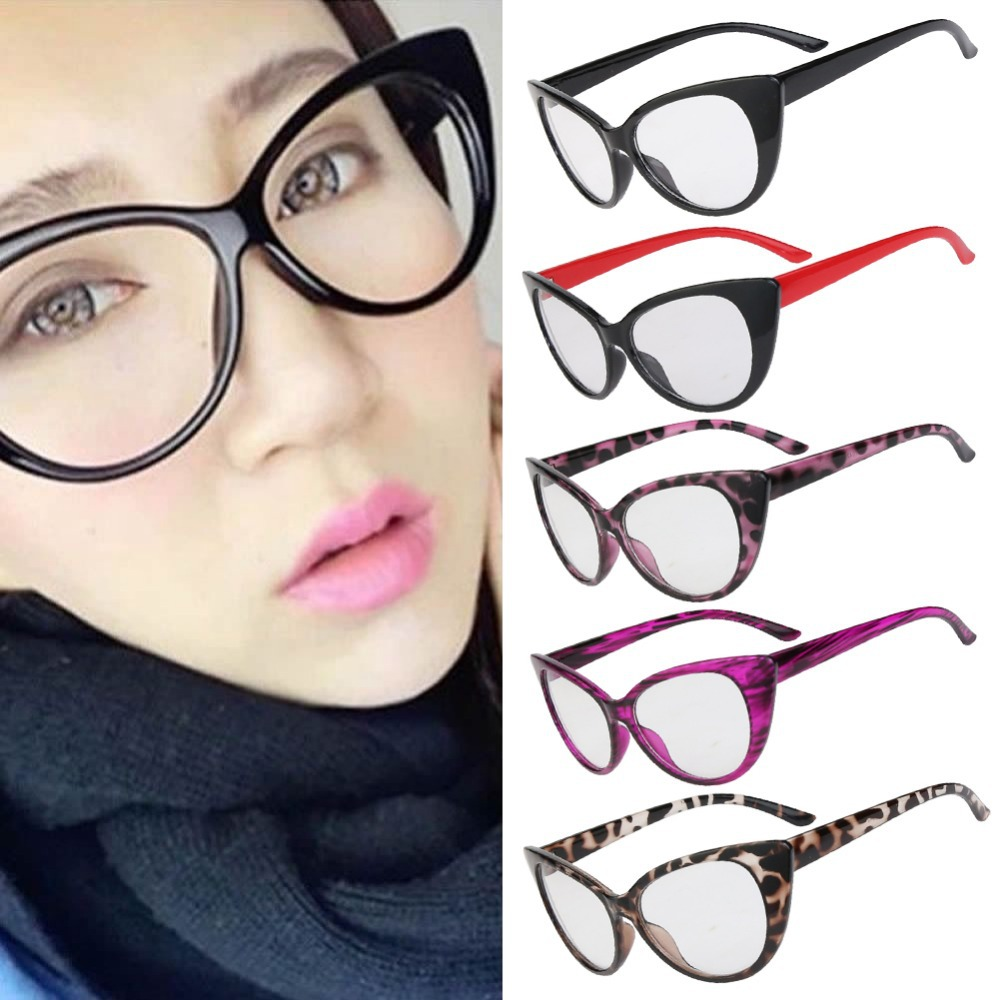 f9857e986a 2017 Hot Fashion Retro Sexy Women Eyeglasses Frame Cat Eye Clear Lens lady Eye  Glasses Drop Shipping l1-in Sunglasses from Apparel Accessories on ...