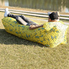Norent Portable Folding Waterproof Inflatable bed with Built-in Pillow Outdoor Tourist Mattress Camping Picnic Beach Air bed