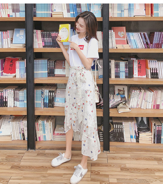 2019 Newly Women Summer Dress Half Sleeves Slim Fit Striped Round Neck Elastic Waist 2
